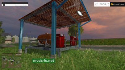 Заправочная станция для Farming Simulator 2015