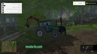 Трактор valmet-6600 для работы в лесу