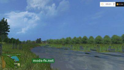 Красиво озеро на карте  «Janova valley hardcore»