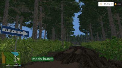 Лес на карте «Янова долина»