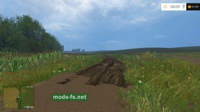 Грунтовые дороги и болото в игре Farming Simulator 2015
