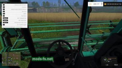 Мод комбайна ДОН-1500Б для Farming Simulator 2015