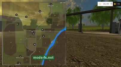 Схема карты «Полтавская долина»