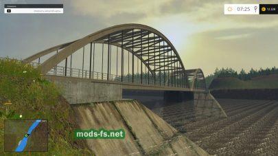 Карта с большим мостом для игры FS 2015