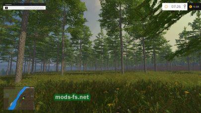 Лес на карте «Полтавская долина»
