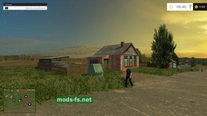 Карта со старым селом для игры FS 2015