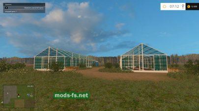 Теплицы в игре Farming Simulator 2015