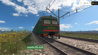 Мод поезда на карте Колхоз «РОССИЯ»