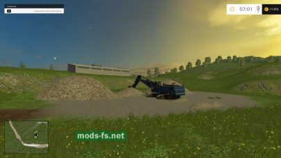 Карьер гравия в Farming Simulator 2015