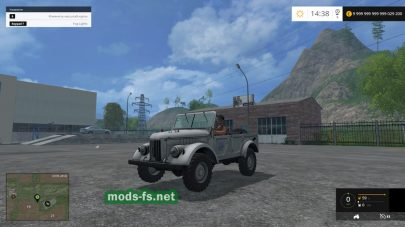 Мод ГАЗ-69 v 1.0 для Фермер Симулятор 2015
