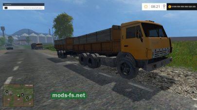 Мод КамАЗ 55102 и прицепы
