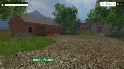 Карта деревни Комлюко для игры Фермер Симулятор 2015