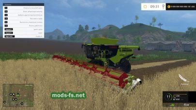 Мод большого комбайна для Farming Simulator 2015