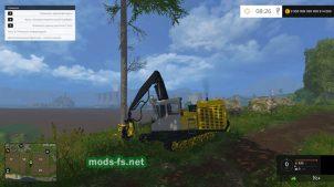 Мод машины ЛП-19Б3 для лесозаготовки в игре FS 2015