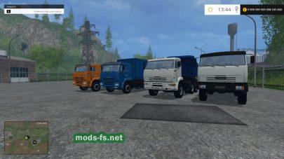 Скриншот мода КамАЗ 65116 6х6 для FS 2015