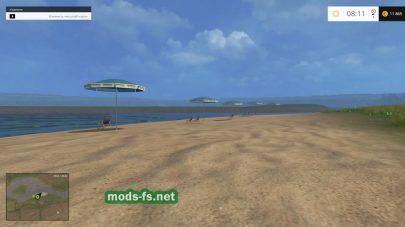 Карта с пляжем для игры Farming Simulator 2015