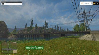 Мост на карте «Колхоз Заря»