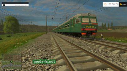 Поезд в Farming Simulator 2015