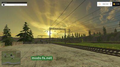 Железная дорога в игре Фермер Симулятор 2015