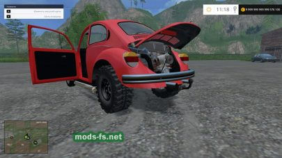Мод Volkswagen Kaefer 1973 Dragster для Farming Simulator 2015