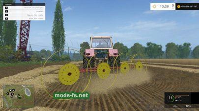 Мод грабли для Farming Simulator 2015