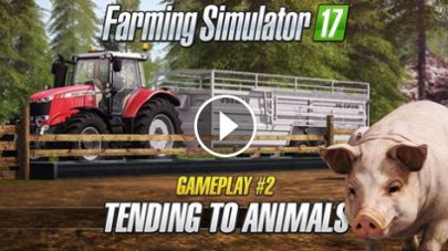 Животноводство в Farming Simulator 2017 (видео)