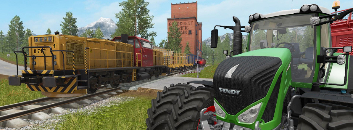 Поезда в Farming Simulator 17