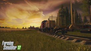Перевозка деревьев на поезде в FS 2015