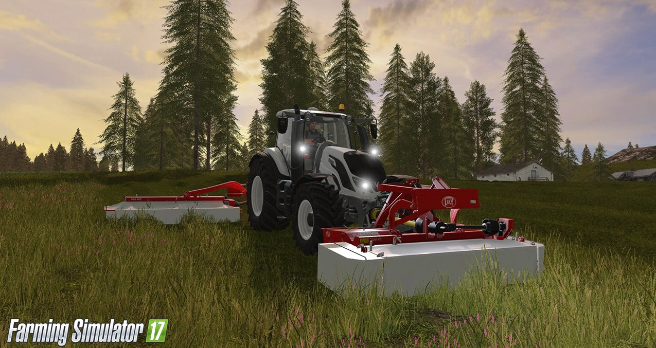 Заготовка сена в игре Farming Simulator 2017
