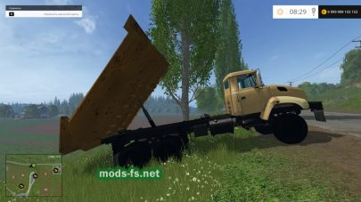 Мод грузовика KRAZ 18B для Farming Simulator 2015