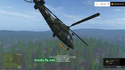 Мод Agusta A.109 [CAMO] для Farming Simulator 2015