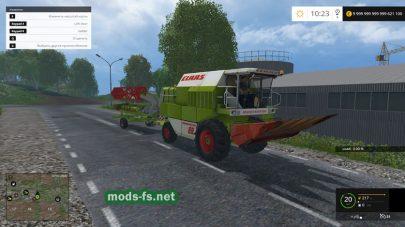 Мод комбайна CLAAS DOMINATOR 88S для Farming Simulator 2015