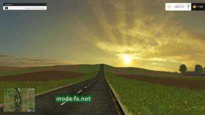 Дороги и поля на турецкой карте в игре Farming Simulator 2015