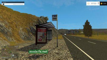 Автобусная остановка в игре FS 2015