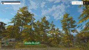 """Осенний лес на карте """"River Outback"""" в FS 2015"""