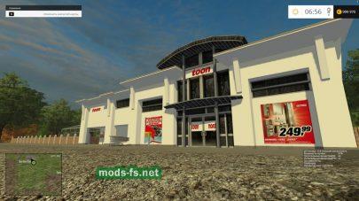 Большой магазин в игре FS 2015