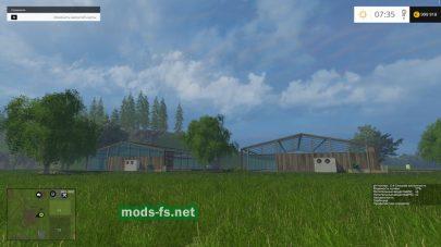 Большие теплицы в игре Фермер Симулятор