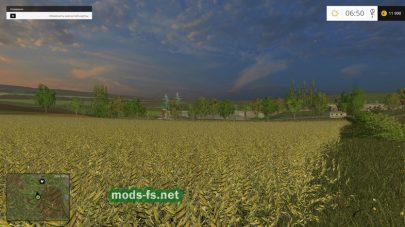 Урожай на поле в игре Фермер Симулятор