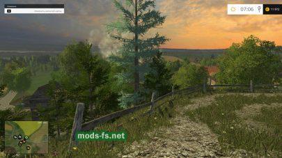 Farming Simulator 2015: дорога в горах