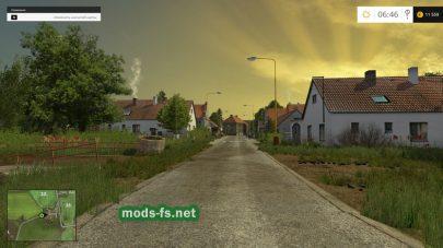 Деревня на карте в игре Фермер Симулятор