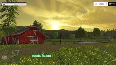 Восход солнца в игре Фермер Симулятор
