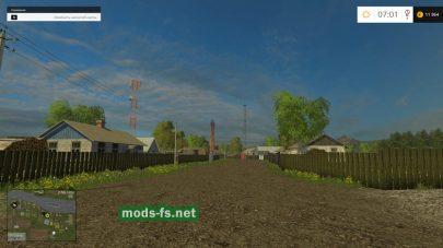 Украинская деревня в игре Farming Simulator 2015
