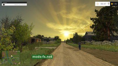 Карта с деревней для Farming Simulator 2015