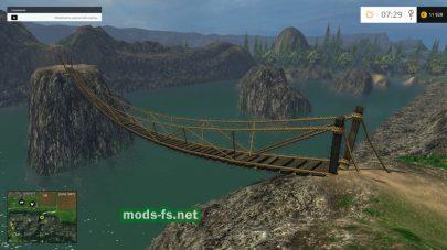 Мост через речку в Farming Simulator 2015