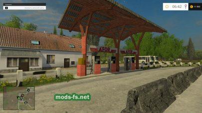 Заправочная станция на карте в игре FS 2015