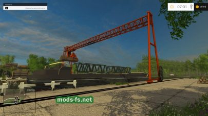 Погрузка корабля в игре Фермер Симулятор 2015
