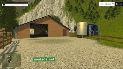 Ферма в горах Альп