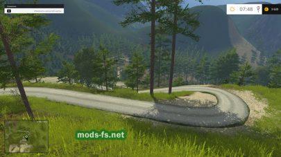 Горные дороги Альп в игре Фермер Симулятор 2015
