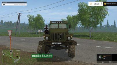 Тягач Урал 43206 для Farming Simulator 2015