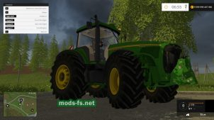 Трактор JOHN DEERE 8520 FH для Farming Simulator 2015